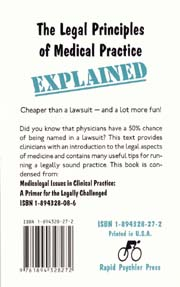 Legal Principles of Medical Practice